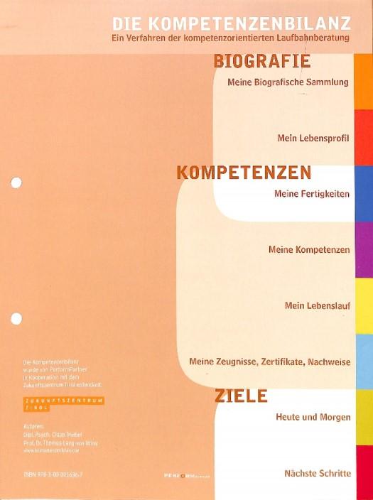 Kompetenzenbilanz - Jürgen Wulff - DIE/WULFF/STRATEGIE - Orientierung im Management
